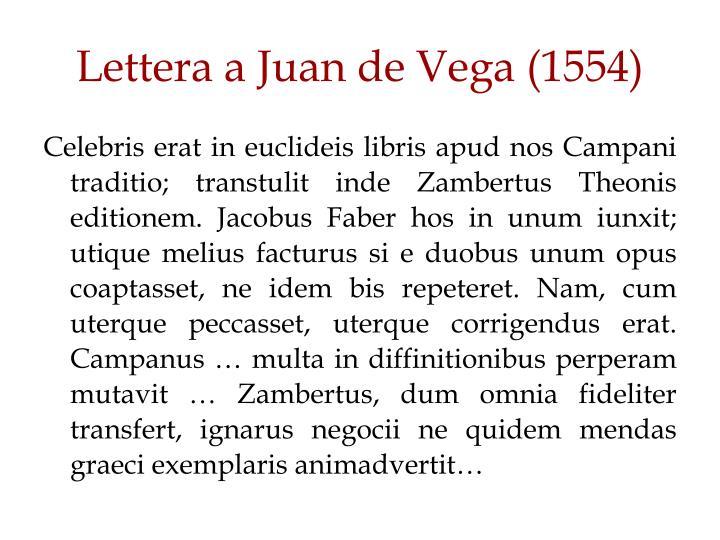 Lettera a Juan de Vega (1554)