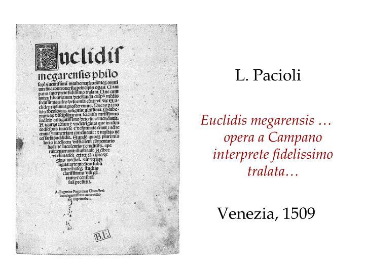 L. Pacioli