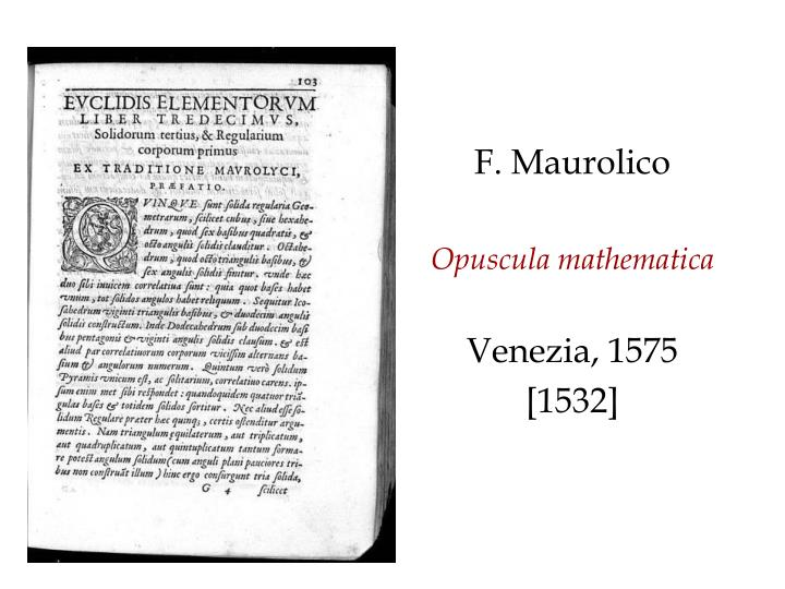 F. Maurolico