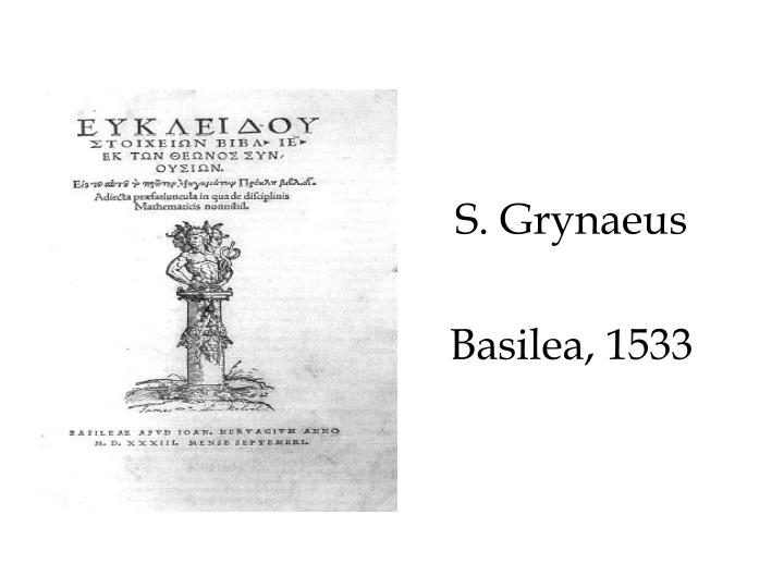 S. Grynaeus