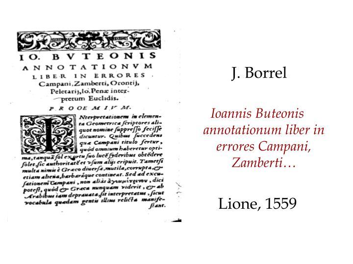 J. Borrel