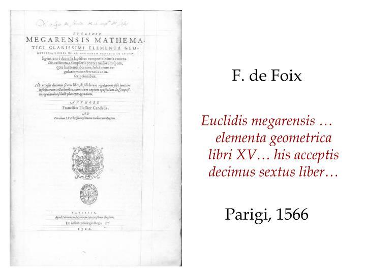 F. de Foix