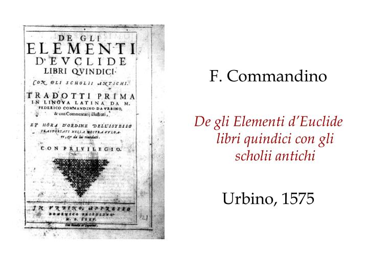 F. Commandino