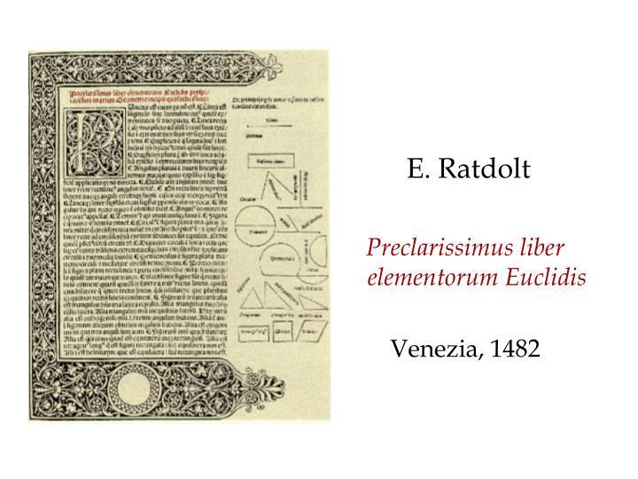 E. Ratdolt