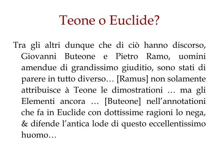Teone o Euclide?