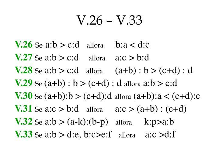 V.26 – V.33