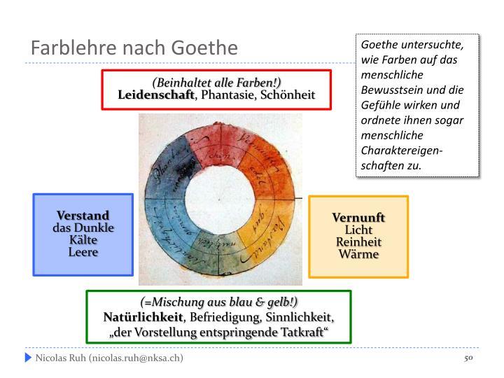 Farblehre nach Goethe