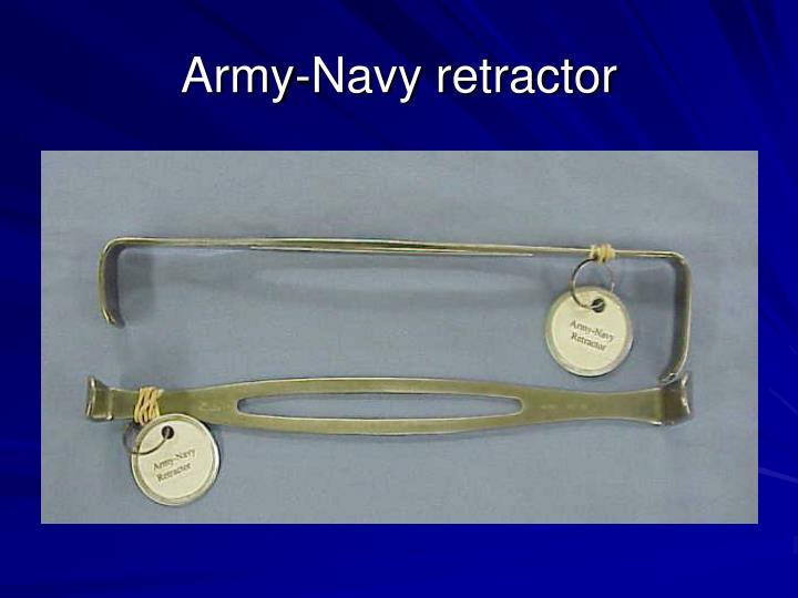 Army-Navy retractor