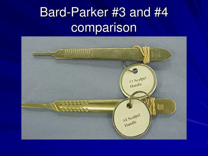 Bard-Parker #3 and #4 comparison