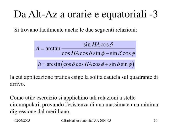 Da Alt-Az a orarie e equatoriali -3