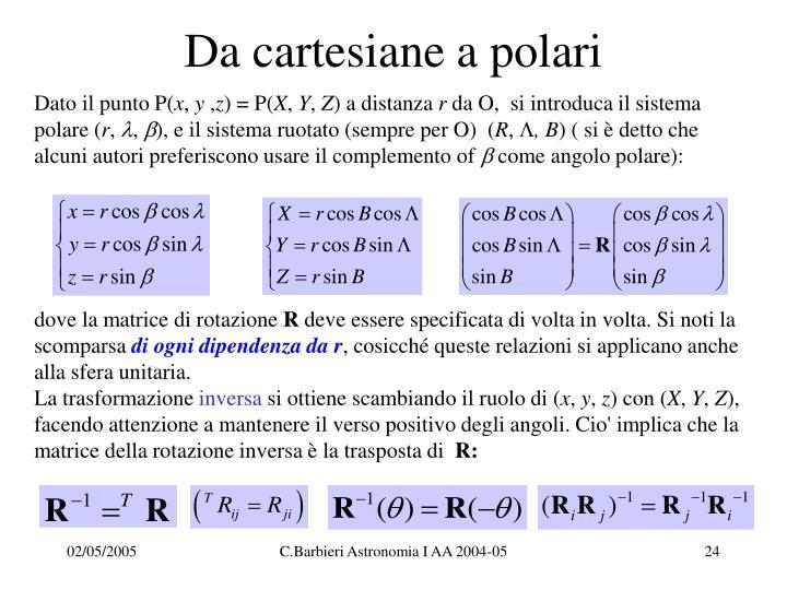 Da cartesiane a polari