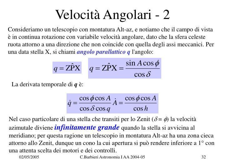 Velocità Angolari - 2