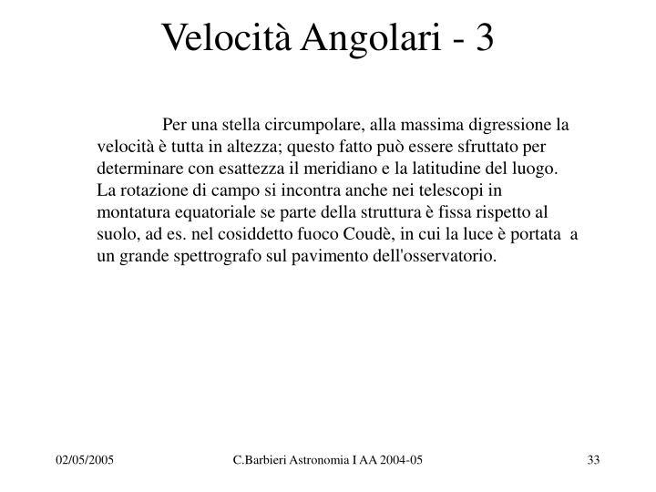 Velocità Angolari - 3