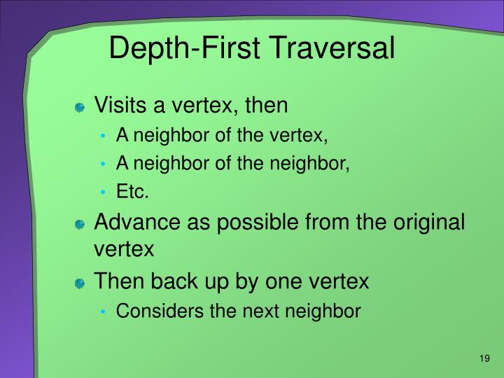 Depth-First Traversal