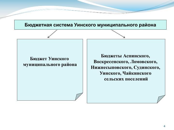 Бюджетная система Уинского муниципального района
