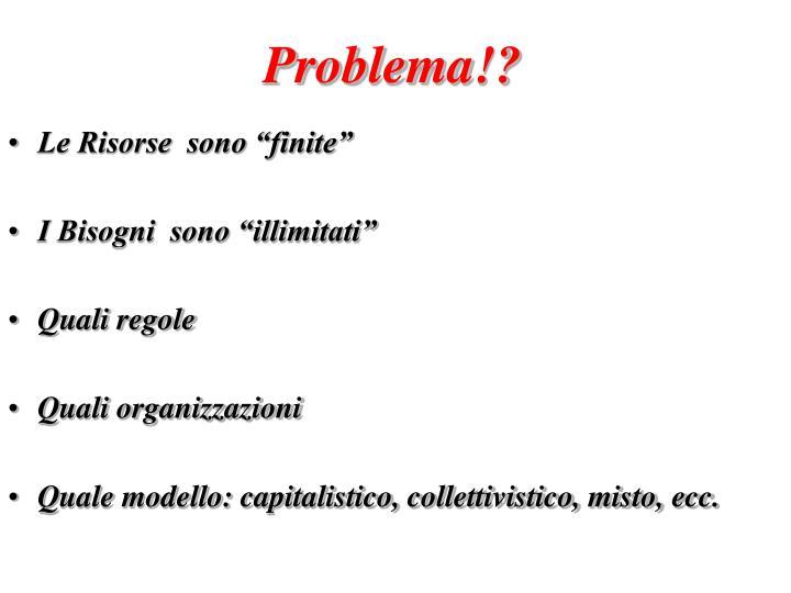 Problema!?
