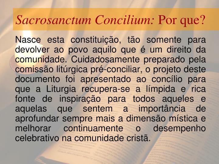 Sacrosanctum Concilium: