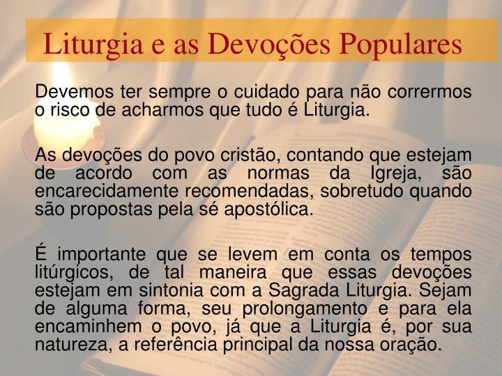 Liturgia e as Devoções Populares