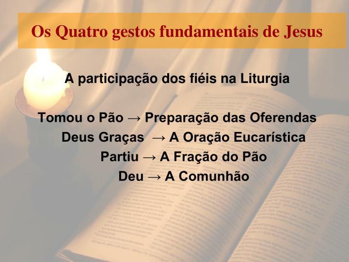 Os Quatro gestos fundamentais de Jesus