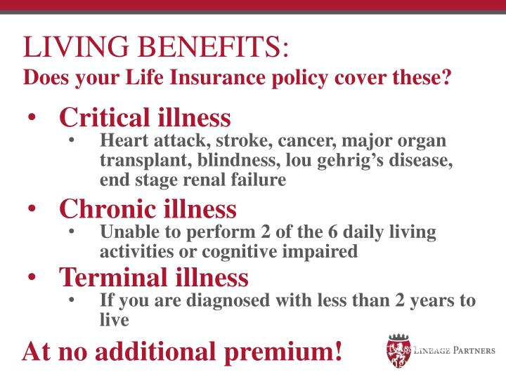 LIVING BENEFITS: