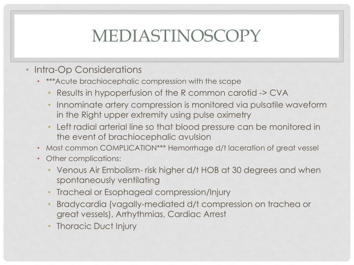 Mediastinoscopy