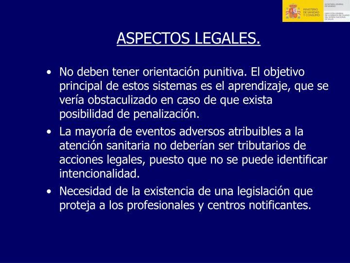 ASPECTOS LEGALES.