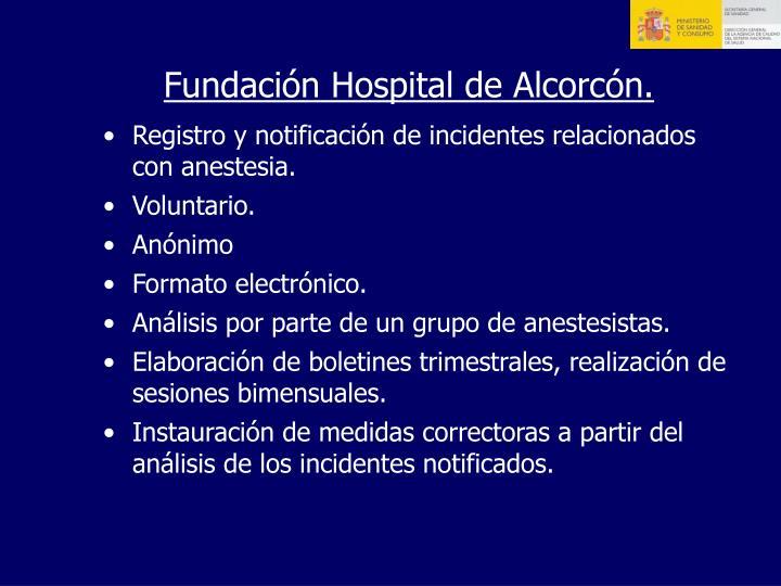 Fundación Hospital de Alcorcón.