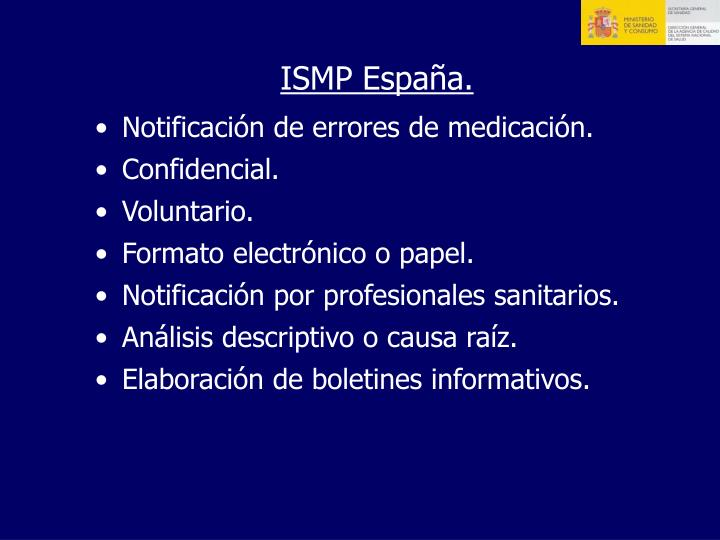ISMP España.