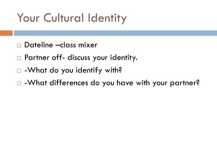 Your Cultural Identity