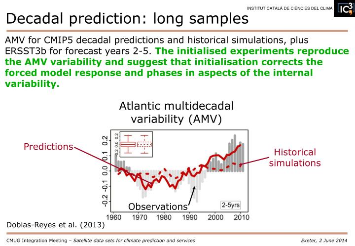 Decadal prediction: long samples