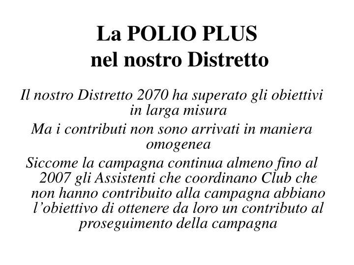 La POLIO PLUS