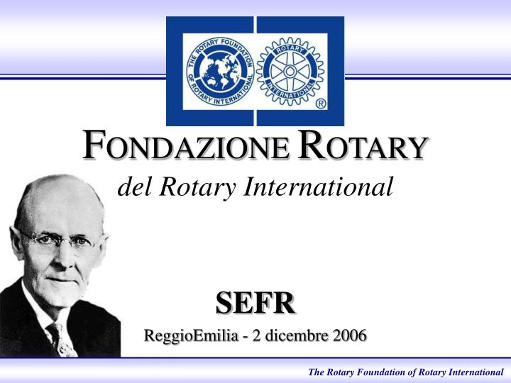 F ondazione r otary del rotary international