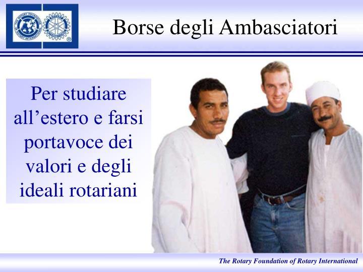 Borse degli Ambasciatori