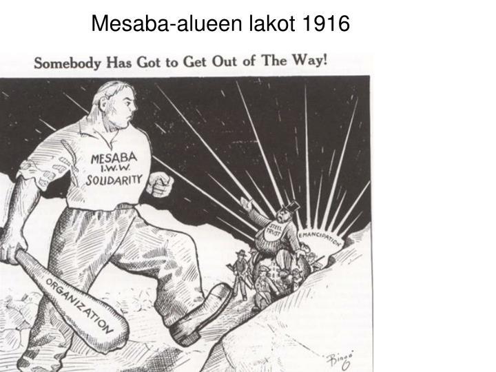 Mesaba-alueen lakot 1916