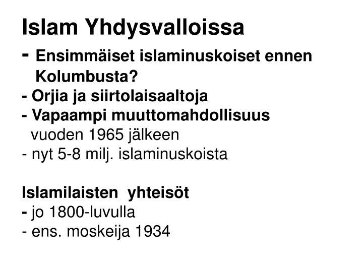 Islam Yhdysvalloissa