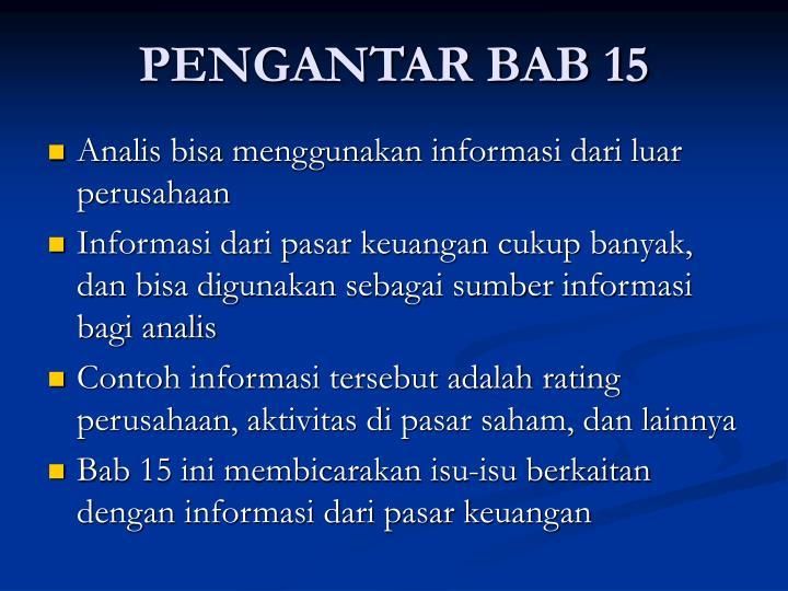 PENGANTAR BAB 15
