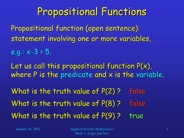 Propositional Functions
