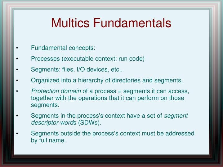 Multics Fundamentals