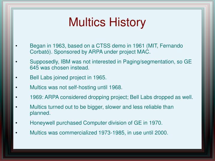 Multics History