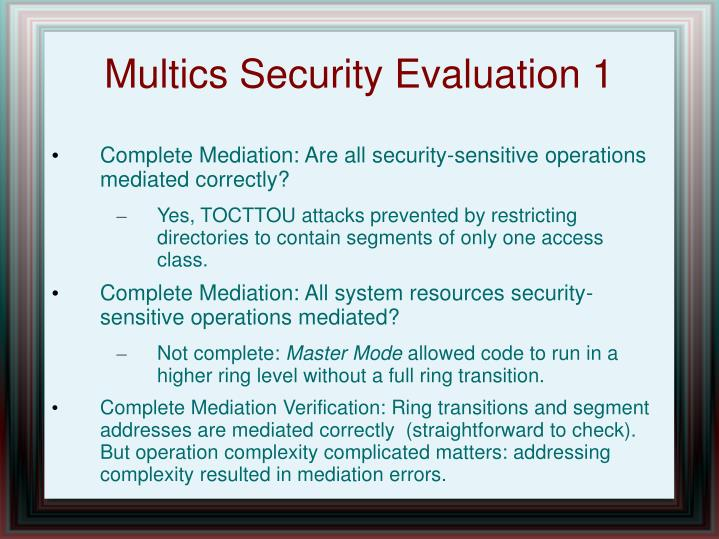Multics Security Evaluation 1