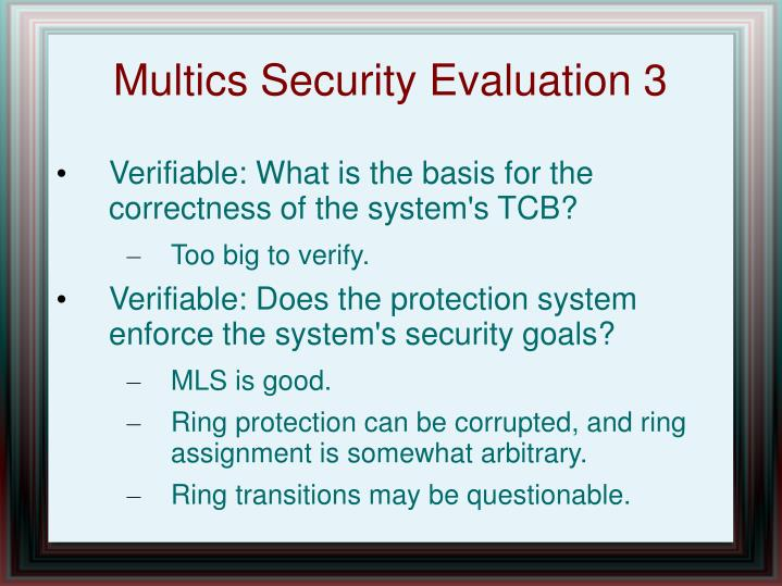 Multics Security Evaluation 3
