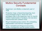 multics security fundamental concepts
