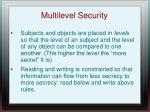 multilevel security
