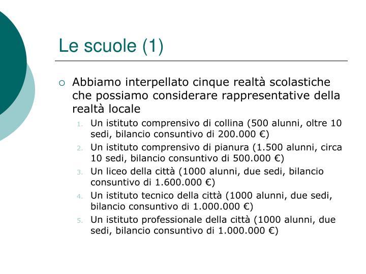 Le scuole (1)