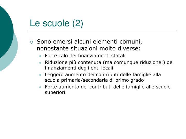 Le scuole (2)