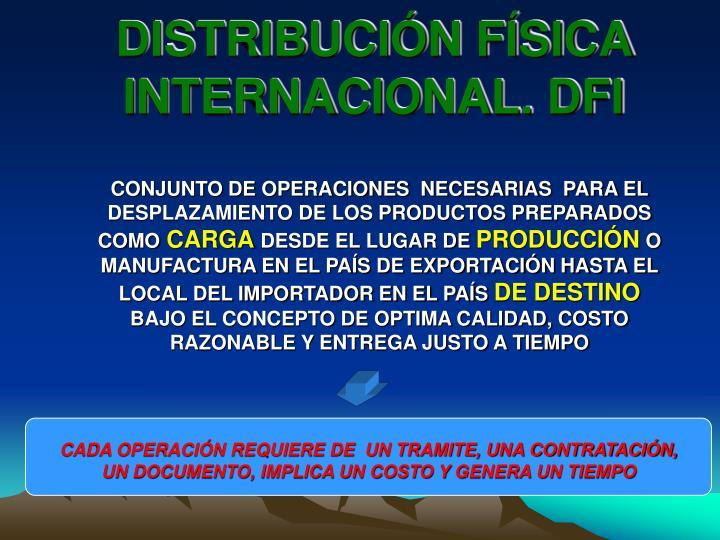 DISTRIBUCIÓN FÍSICA INTERNACIONAL. DFI