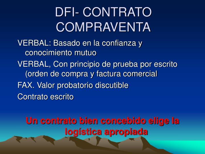 DFI- CONTRATO COMPRAVENTA