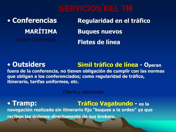 SERVICIOS DEL TM