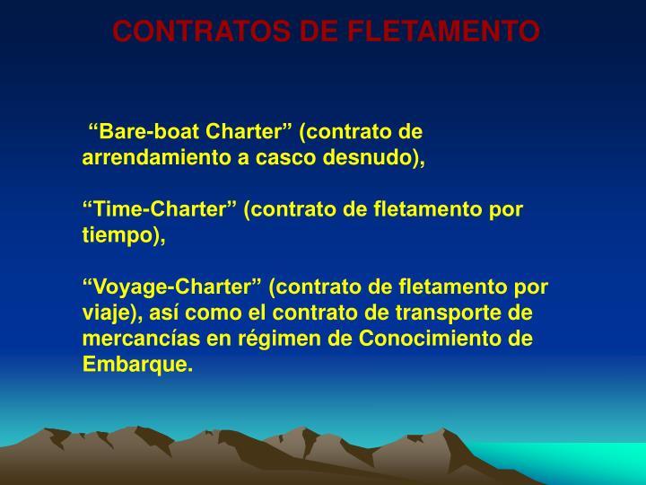 CONTRATOS DE FLETAMENTO