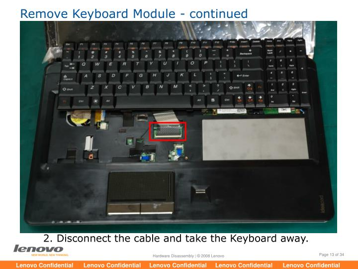 Remove Keyboard Module - continued